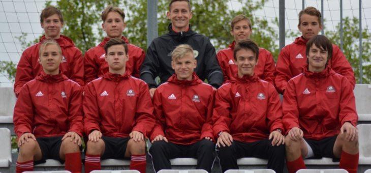 A.Oļesovs un K.Bluķis LFF Futbola akadēmijas talantu skatē 2003.-2004.g.vārtsargiem