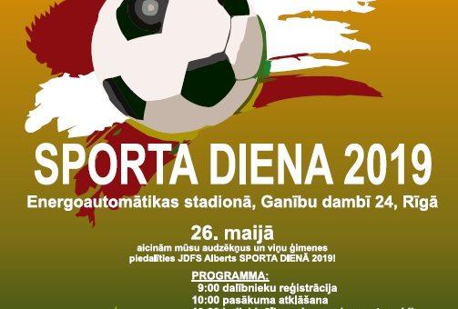 JDFS SPORTA DIENA!-26.MAIJĀ!